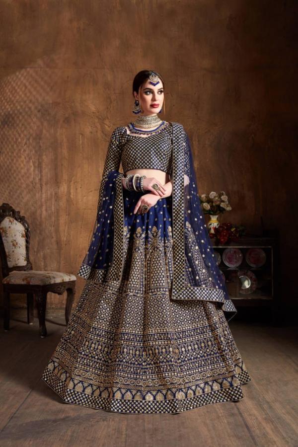 Bollywood Bridal Designer Blue Lehenga