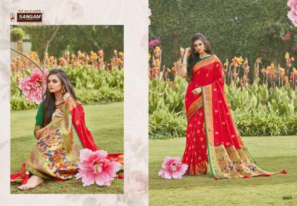 Sangam Prints Pattu Silk 5001-5006 Series
