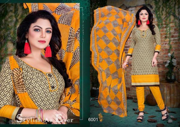 Kumkum First Impression Vol-6 Fashion House 6001-6016 Series