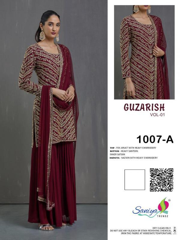 Saniya Trendz Guzarish Vol-1 Shades 1007 Colors