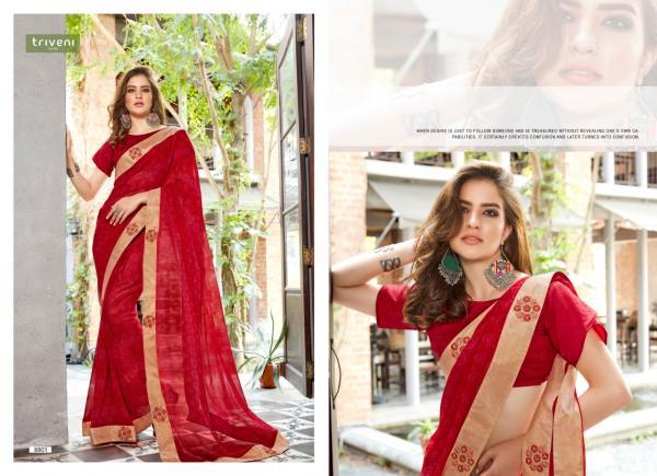 Triveni Saree Sarah 8801-8812 Series