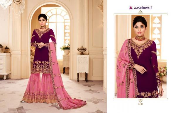 Aashirwad Creation Gulkand Shamita Sharara 8165-8170 Series