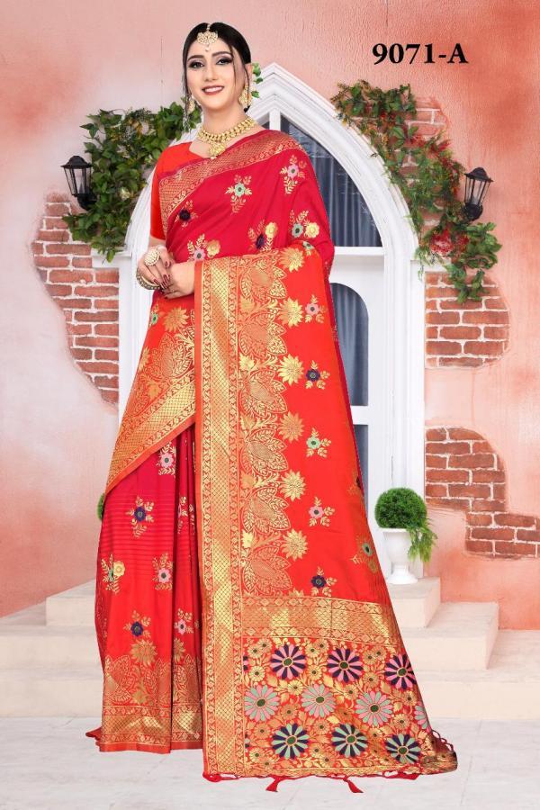 NP Saree 9071 Colors Pure Silk Sarees