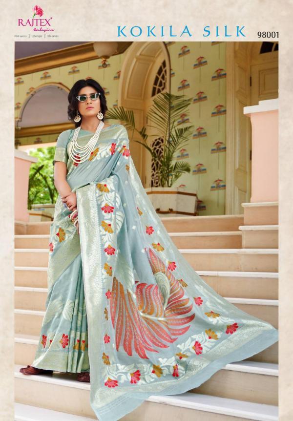 Rajtex Saree Kokila Silk 98001-98006 Series