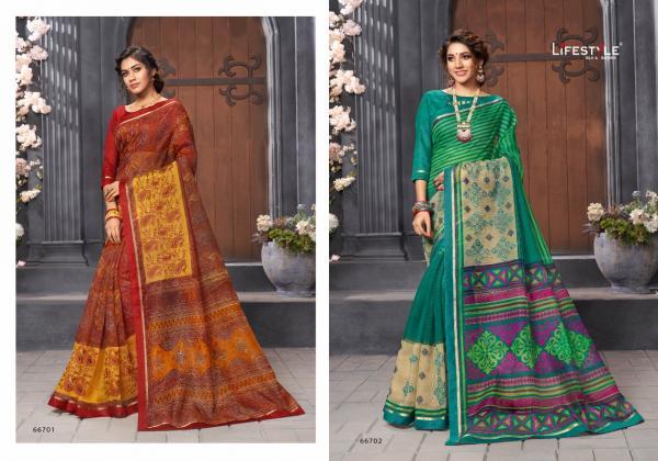 Lifestyle Katha Cotton Vol-18 66701-66712 Series
