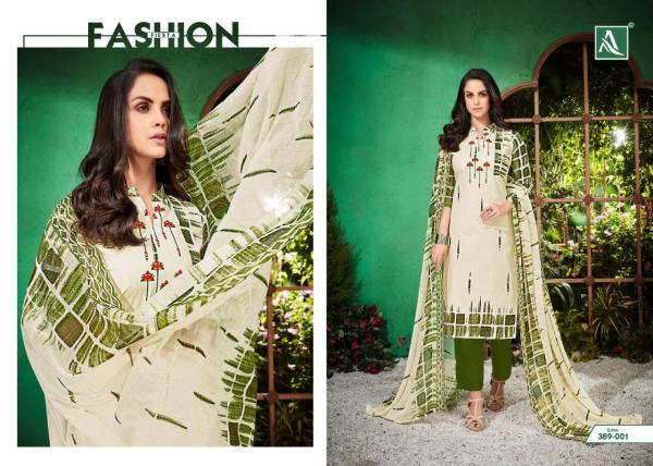 Alok Suit White Beauty 389-001-389-010 Series