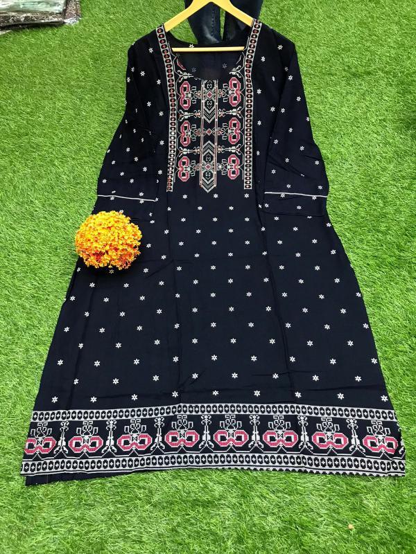 Non Catalog Jaipuri Cotton Block Printed Kurtis