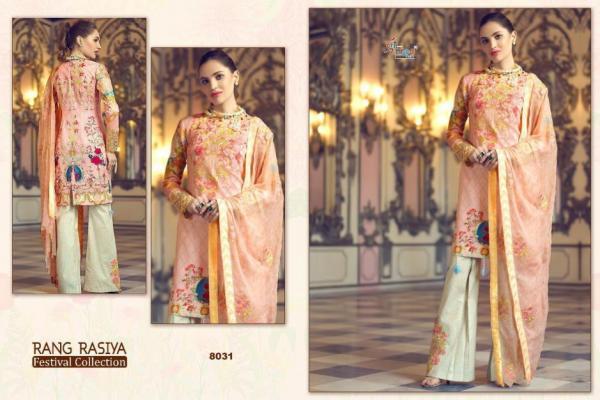 Shree Fabs Rang Rasiya Festival Collection 8031-8038 Series