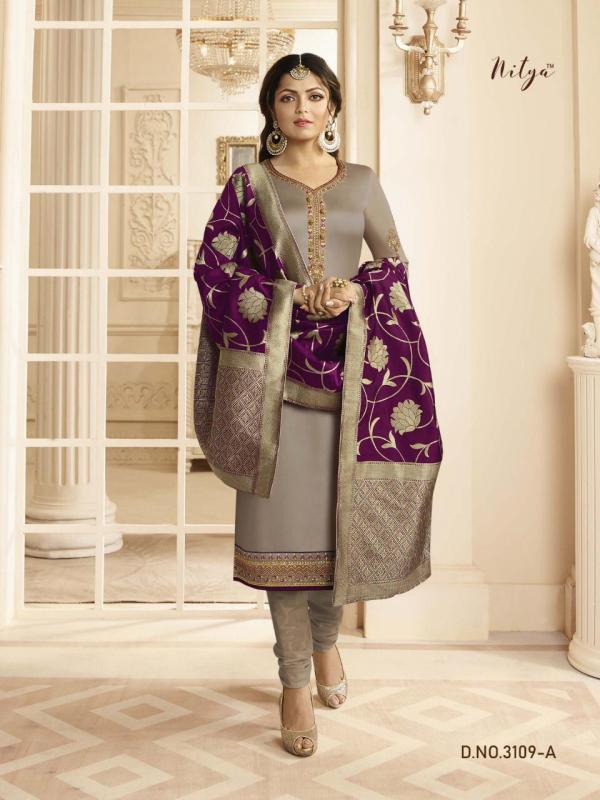 LT Fabrics Nitya 3109 Colors Jacquard Dupatta