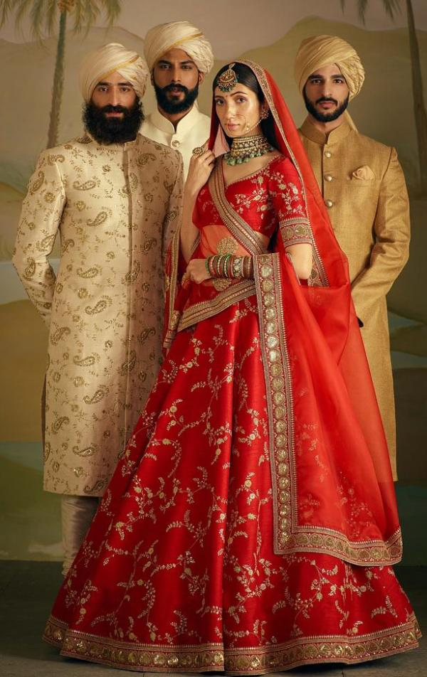 AF 818 Red Designer Wedding Choli