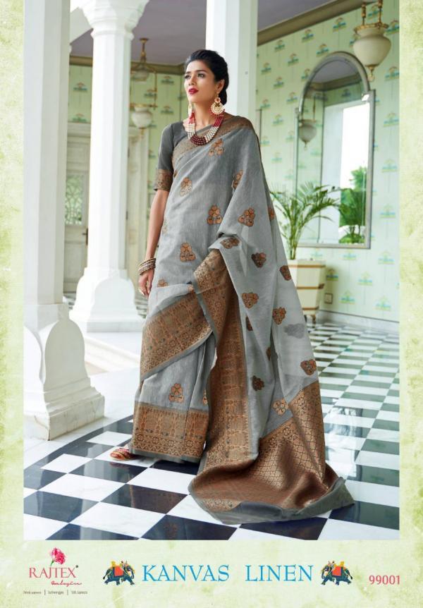Rajtex Saree Kanvas Linen 99001-99006 Series
