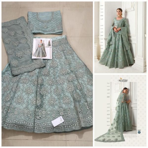 Alizeh Bridal Heritage Colour Saga Vol-1 1004 Real Image