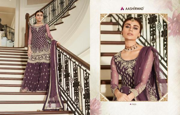 Aashirwad Creation Premium Sharara 7021-7024 Series