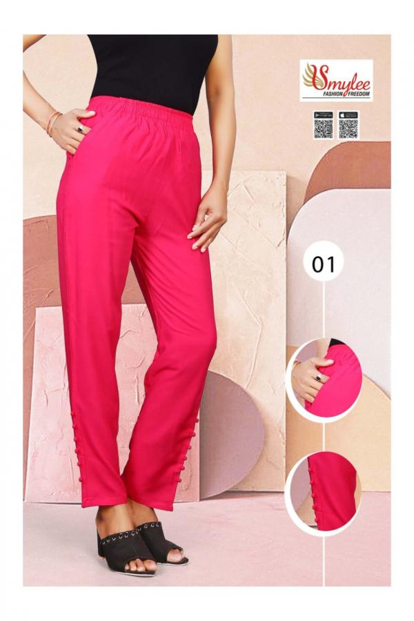 Smylee Fashion Rayon Pants