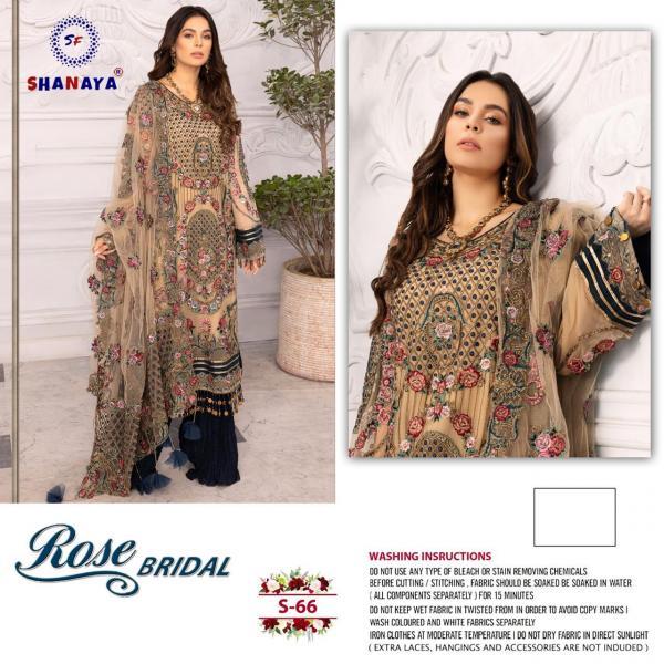 Shanaya Fashion Rose Bridal S-66 Dress  Material