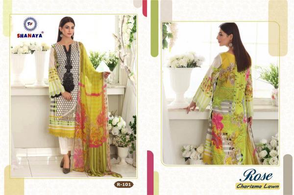 Shanaya Fashion Rose Charizma Lawn R-101 to R-104 Series