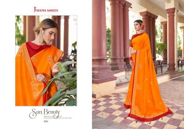 Seema Saree Kaiynat Vol-3 4001-4008 Series