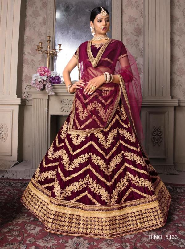 Bollywood Maroon Designer Lehenga 5133 Design
