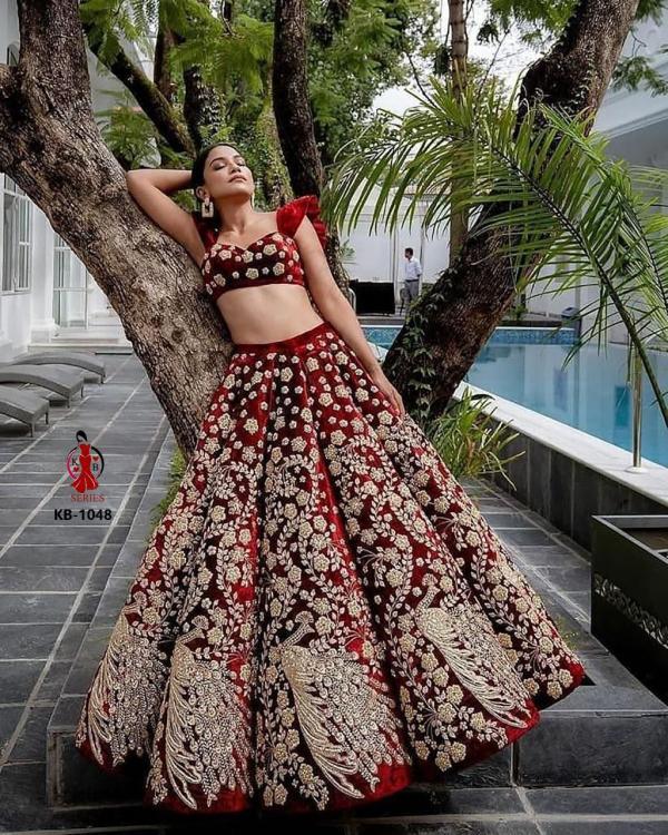 KB Series Boutique Collection Bridal Lehenga KB 1048 Design