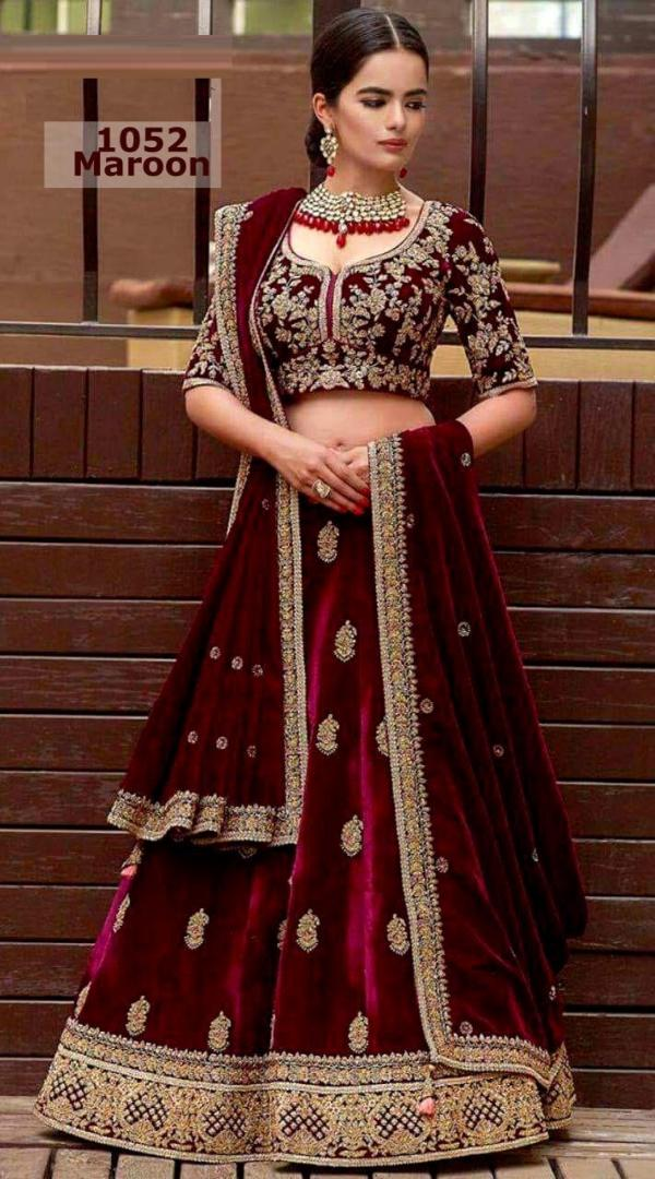 1052 Designer Party Wear Lehenga Choli