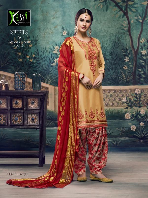 Kessi Fabrics Shangar By Patiala House Vol-10 4101-4112 Series