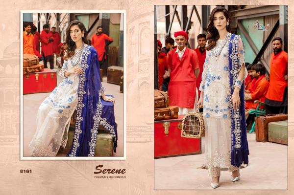 Shree Fabs Serene Primium Embroidered 8161-8166 Series