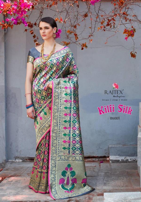 Rajtex Saree Kilfi Silk 86001-86010 Series