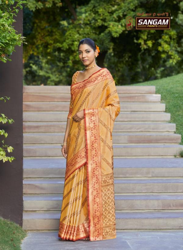 Sangam Prints Metallic Silk 4117-4122 Series