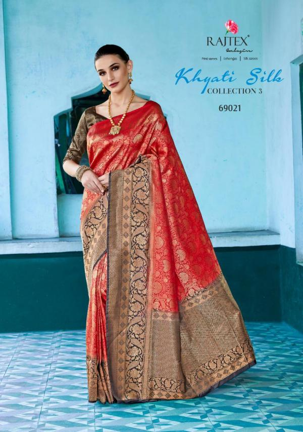 Rajtex Saree Khyati Silk Collection Vol-3 69021-69025 Series