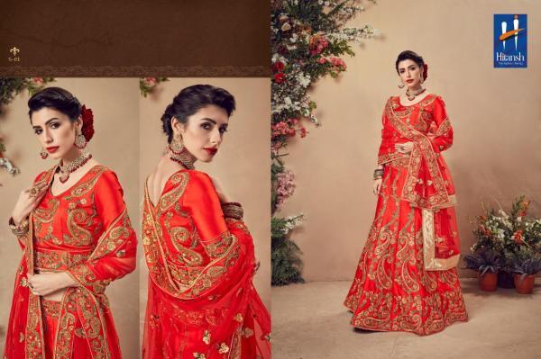 Hitansh Ardhangini Bridal Red Lehenga 01-08 Series