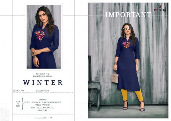 Nitisha NX Winter 1001-1010 Series
