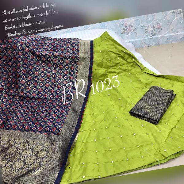 BR Designer Foil Mirror Work Designer Lehenga Choli  BR-1023 Colors