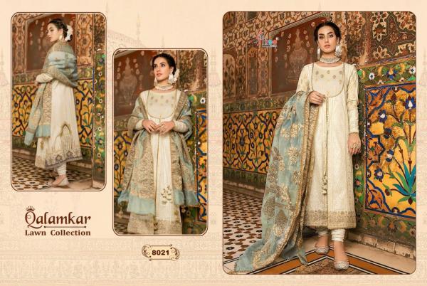 Shree Fabs Qalamkar Lawn Collection 8021-8027 Series