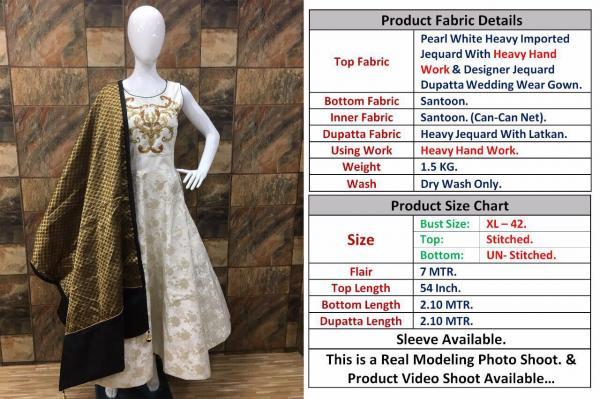 Designer Suit Pearl White