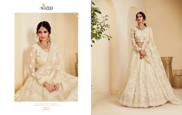 Alizeh Lehenga The White Bride 1001-1004 Series