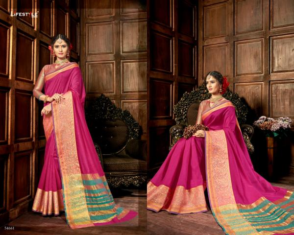 Lifestyle Saree Resham Silk Vol-3 54661-54672 Series