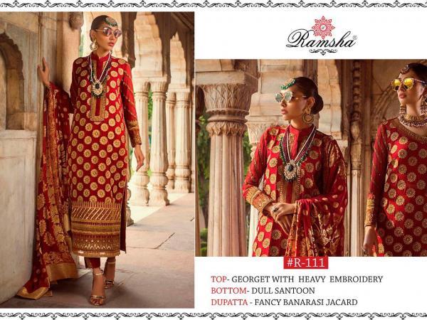 Ramsha 111 Red Color Designer Salwar Suit