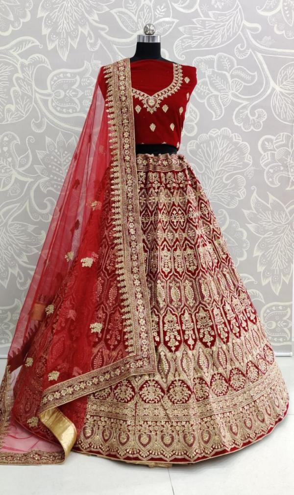 FG 6018 Colors Velvet Fabric Designer Choli