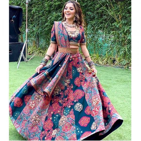 Bollywood Isha Multani Printed Lehenga Choli