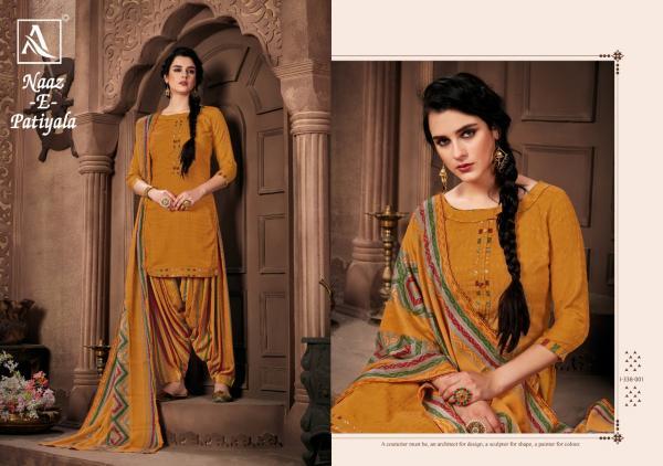 Alok Suit Naaz E Patiyala 338-001-338-010 Series