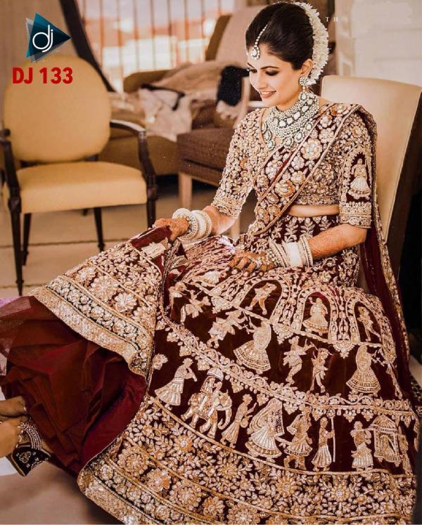 Deepjyothi Creations Bridal Lehenga DJ-133 Design