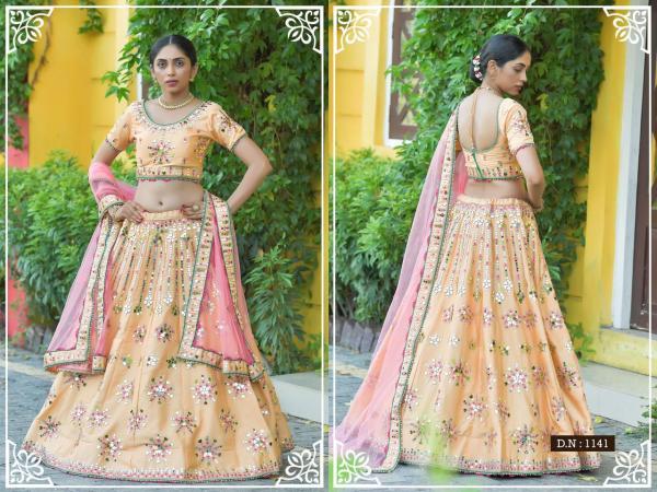 Peafowl Bridal Lehenga Vol-77 1141-1150 Series