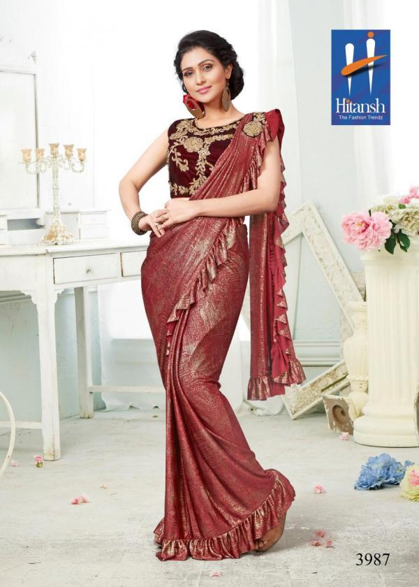 Hitansh Fashion Exclusive Stylish Imported Fabric - Saree