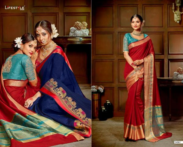 Lifestyle Saree Meera Vol-3 54961-54972 Series