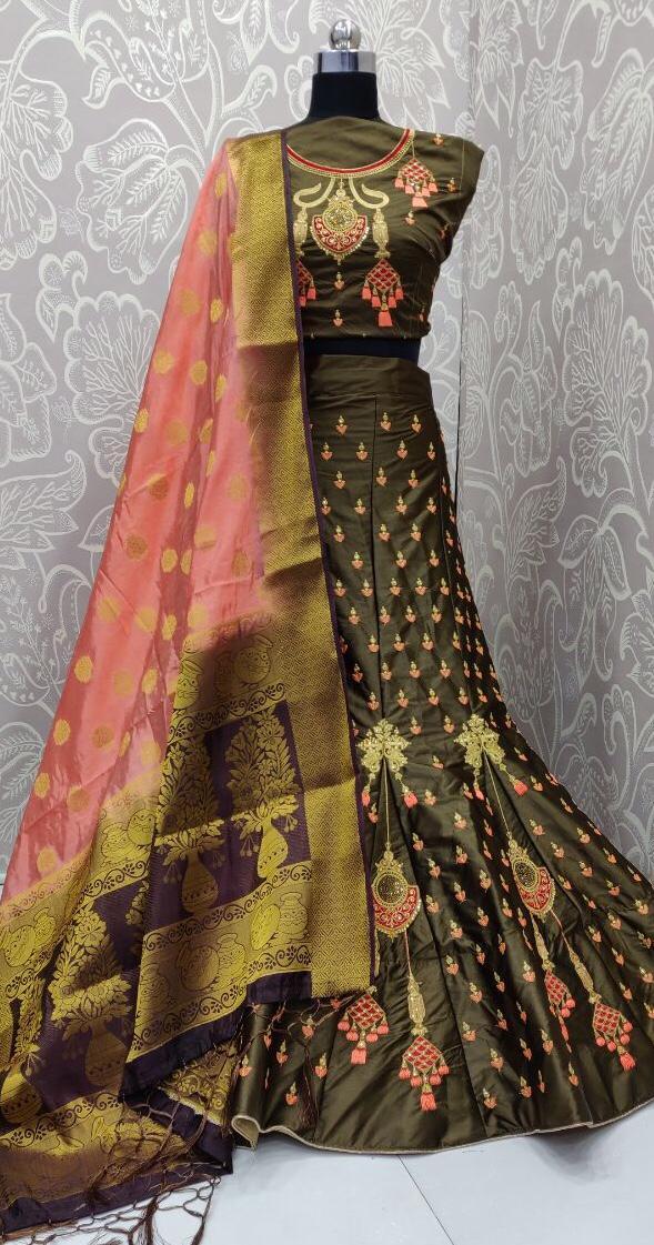 Non Catalog Designer Silk Lehenga Choli