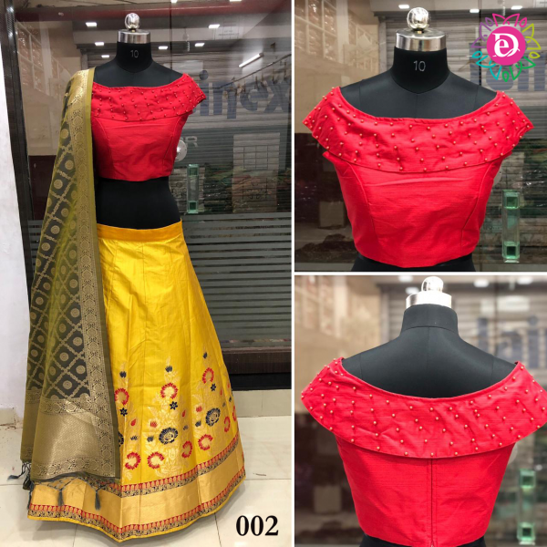 Ash Designer Yellow Silk Lehenga Choli