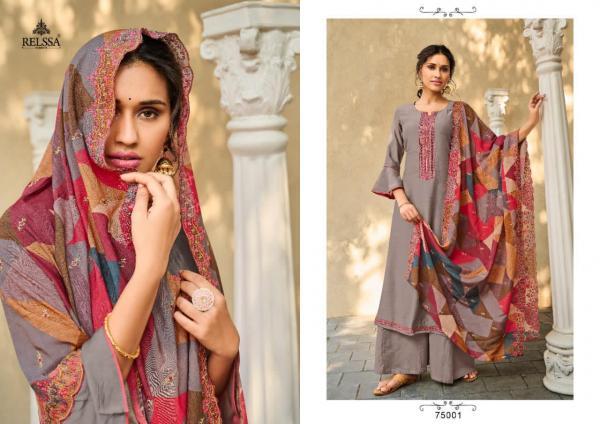 Relssa Fabrics Sajjan Amisha 75001-75006 Series