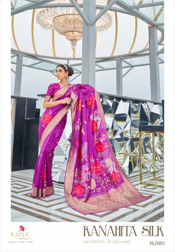 Rajtex Saree Kanahita Silk 162001-162006 Series