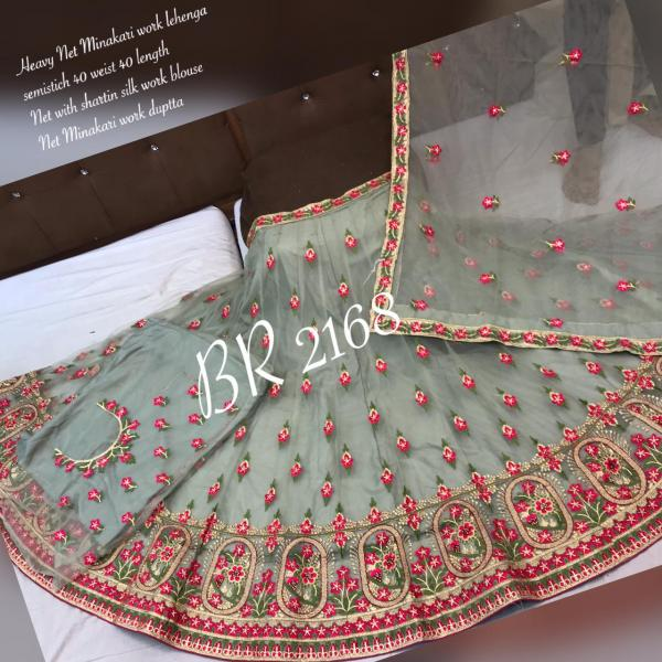 BR Net Minakari Work Designer  Lehenga BR 2168 Colors