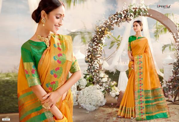 Lifestyle Saree Lavanyam Vol-12 NX 65361-65366 Series